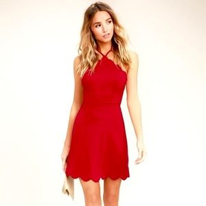 NEW Lulu's your everything red backless dress: S